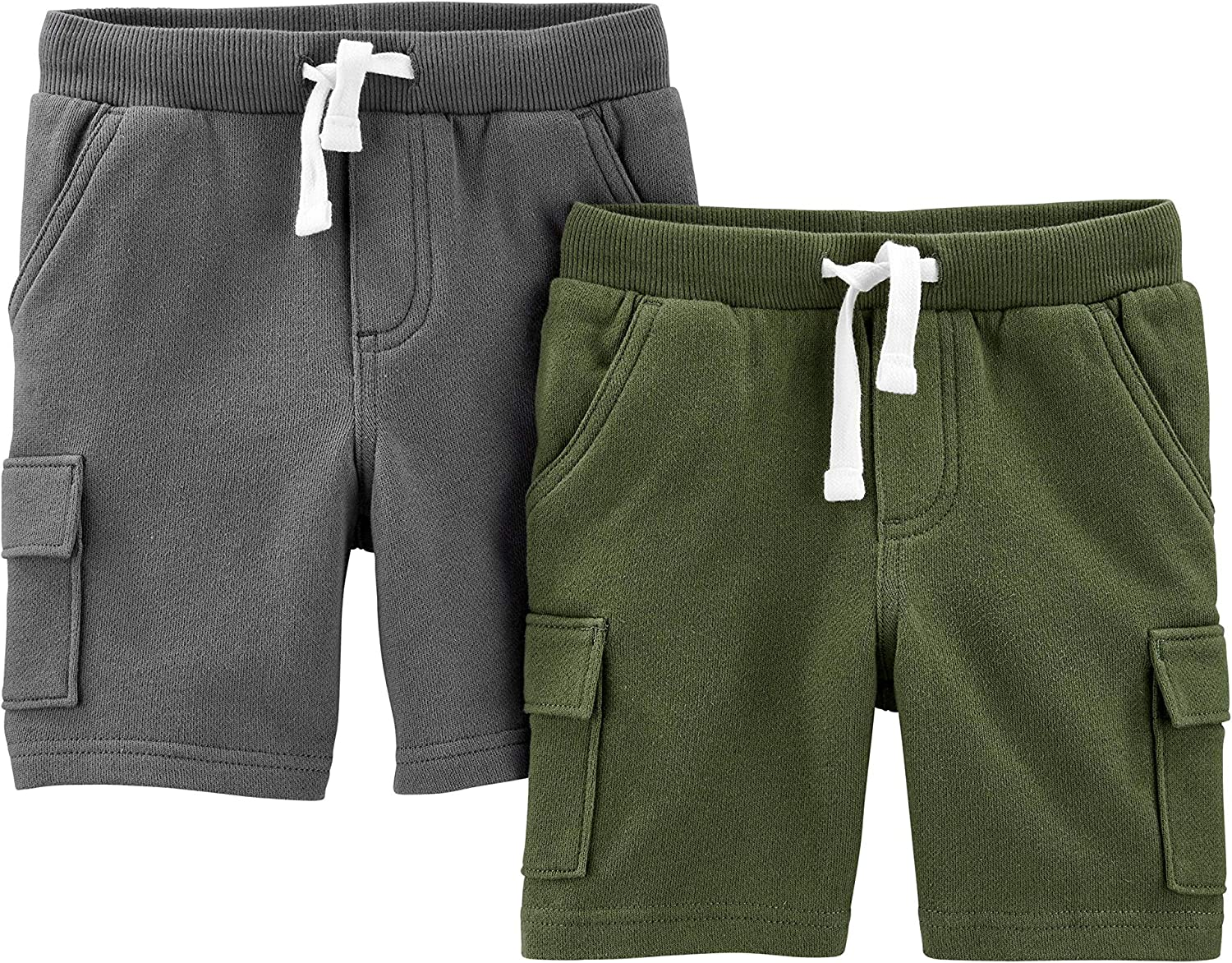 Simple Joys by Carters Boys Multi-Pack Knit Shorts Cargo Shorts