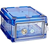 Bel-Art Secador Clear 1.0 Vertical Desiccator Cabinet with Blue End-Caps; 0.7