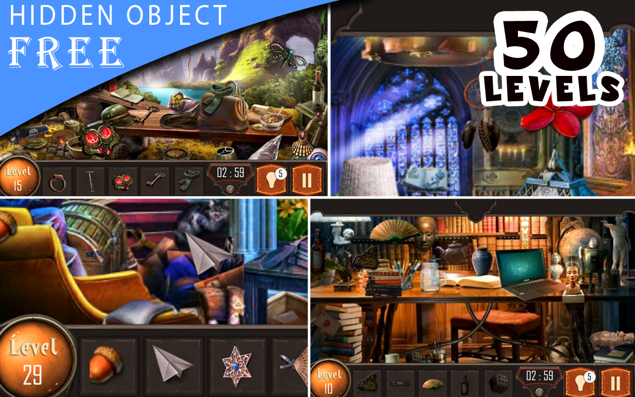 Amazon Com Hidden Object Game 50 Level Of Deep Search Free Appstore For Android
