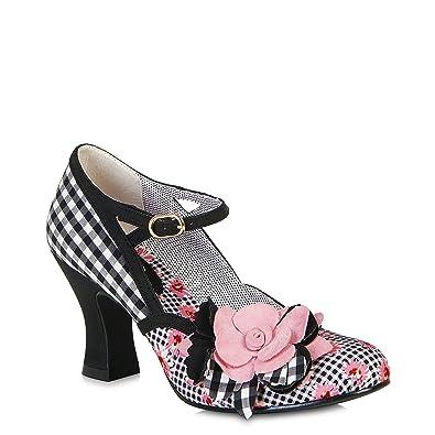 8d4d42e371f7a Ruby Shoo Women s Black Pink Dee Mid Heel Mary Jane Pumps UK 9 EU 42 ...