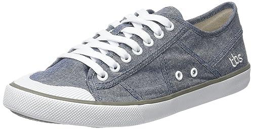 VIOLAY-V7122 - Zapatos de Cordones de Lona Mujer, Gris (Gris (Chambray)), 38 EU TBS