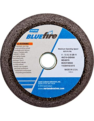 Type 1 3 Diameter x 3//8 Thickness Falcon A60TBE Extra Tough Resinoid Bonded Double Reinforced Grinding and Snagging Abrasive Cut-off Wheel 60 Grit Pack of 3 1//4 Hub Aluminum Oxide