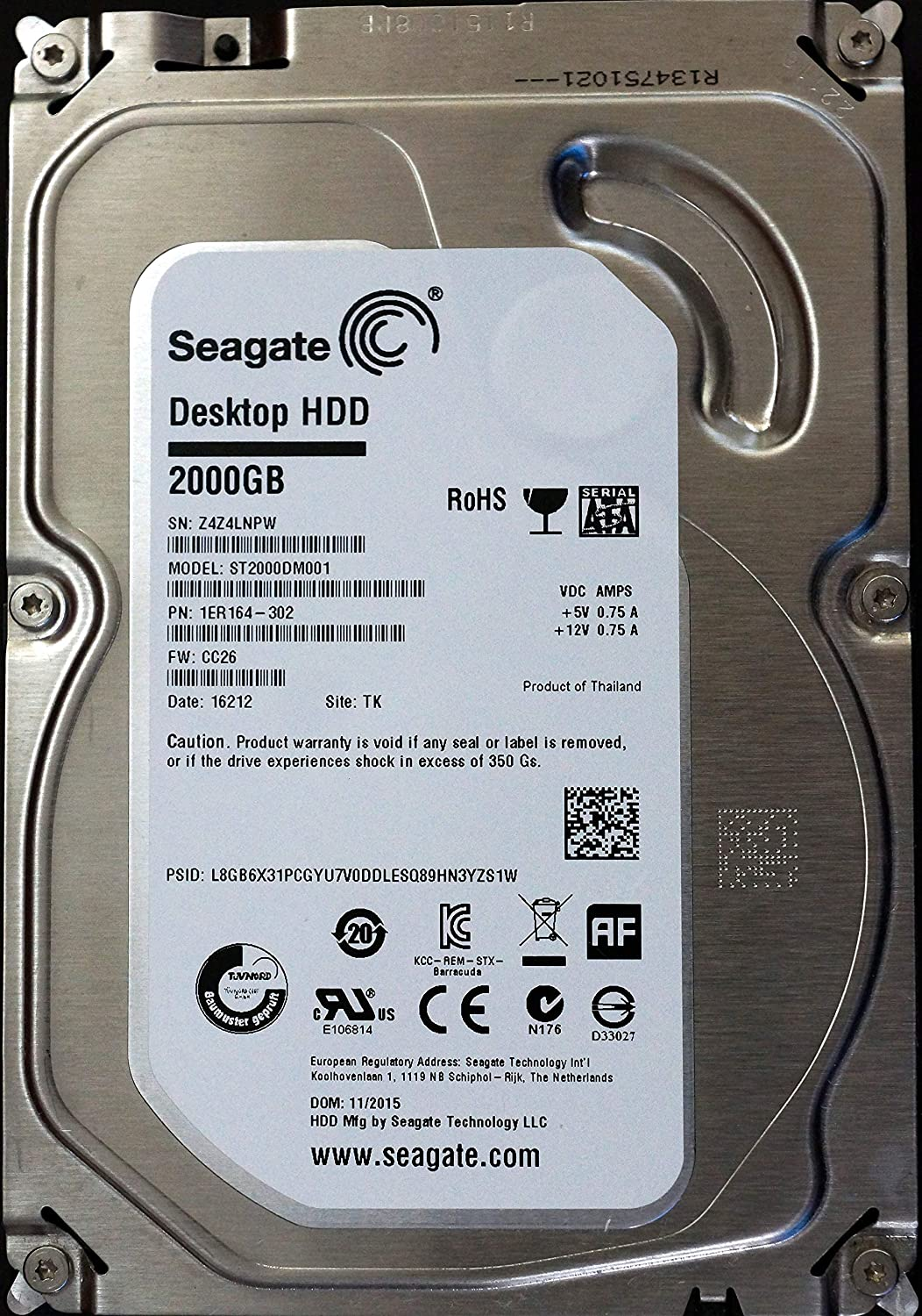 please contact me Calvas 100/% New In box 3 year warranty ST2000DM001 2TB 64MB SATA3 Need more angles photos