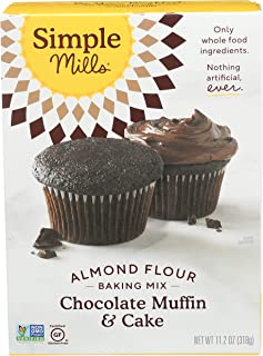 product image for Simple Mills Almond Flour Baking Mix, Gluten Free Chocolate Cake Mix, Muffin pan ready, Made with whole foods, (Packaging May Vary), (Pack of 1) Chocolate Muffin & Cupcake Mix, 11.2 Ounce