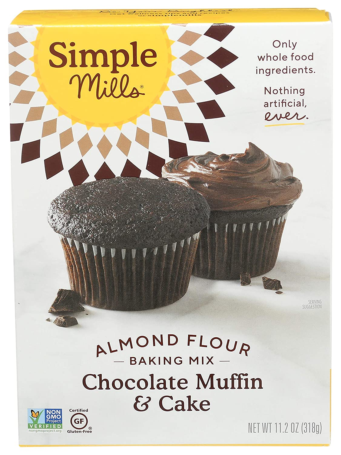 Amazon Com Simple Mills Almond Flour Baking Mix Gluten Free Chocolate Cake Mix Muffin Pan Ready Made With Whole Foods Packaging May Vary Pack Of 1 Chocolate Muffin Cupcake Mix 11 2