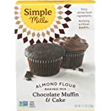 Simple Mills Almond Flour Baking Mix, Gluten Free Chocolate Cake Mix, Muffin pan ready, Made with whole foods, (Packaging May