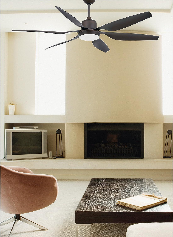 Faro Barcelona Tilos 33466 – Ventilateur avec lumière, acier, pales en ABS, diffuseur en verre Opal