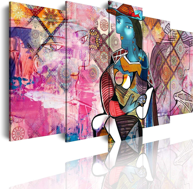 DekoArte - Cuadros Modernos Impresión de Imagen Artística Digitalizada   Lienzo Decorativo Para Tu Salón o Dormitorio   Abstractos Arte Picasso Retrato Marie Therese Walter   5 Piezas 150 x 80 cm