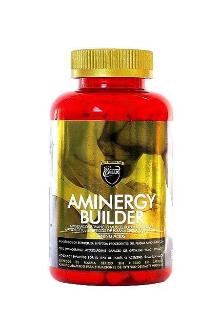 Aminergy builder 160 capsulas - Aminoácidos de estructura Bipéptida procedentes de Plasma Sanguíneo libres de Hierro