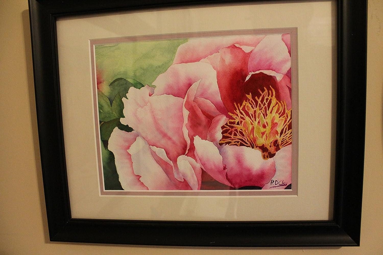 Peony Print Peony Painting Peony Wall Art Watercolor Flowers Red Peony Watercolor Painting Watercolor Flower Wall Art Print