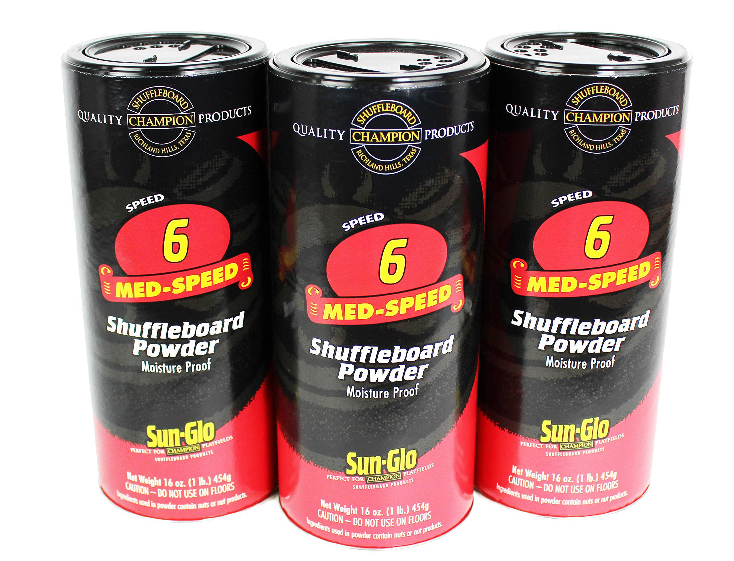 Sun-Glo Shuffleboard Powder Speed #6 - 3 Pack / Cans