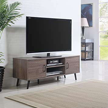 Amazon.com: Mid Century Modern TV Stand (Ash): Kitchen & Dining