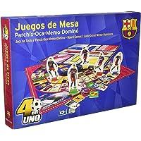 Nanostad Juego de Mesa FC Barcelona 4 En 1 (Parchis, Oca, Memo y Dominó)