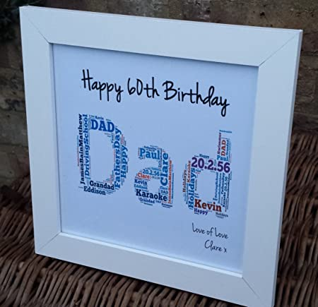 Handmade Birthday Gift Dad Daddy Father Grandad 30th 40th 50th 60th 70th