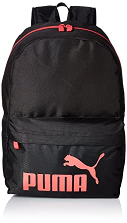 pink and black puma backpack