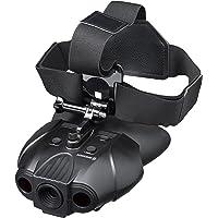 Bresser Digitales Nachtsichtgerät Binokular 1x mit Integriertem Akku, 7 stufiger Infrarotbeleuchtung inklusive gepolstertem Schultergurt und Kopfhalterung