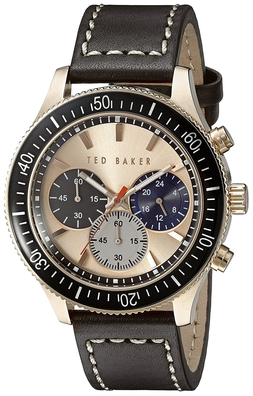 e95d0dd5011a0d Amazon.com  Ted Baker Men s TE1125 Rose Gold-Tone Stainless Steel Watch  with Brown Leather Band  Watches