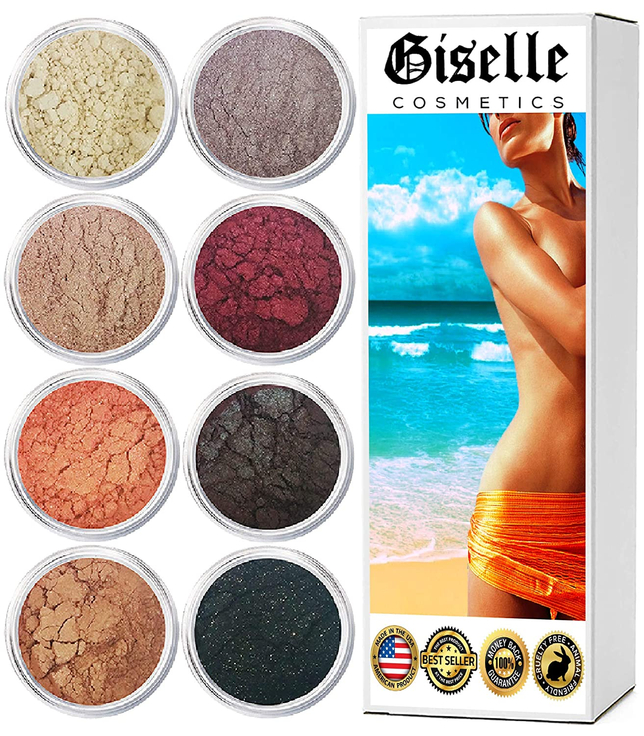 EyeShadow Palette - Mineral Makeup Eyeshadow Powder and Contouring Palette | Pure, Non-Diluted Shimmer Mineral Make Up in 8 Brown Eyed Hues and Shades
