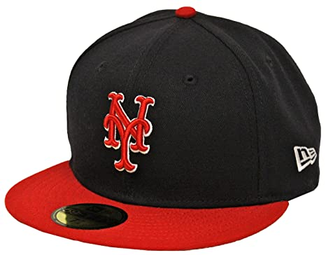 6a3068be953 New Era 59Fifty Country Colors New York Mets Navy Red Fitted Cap (7 ...