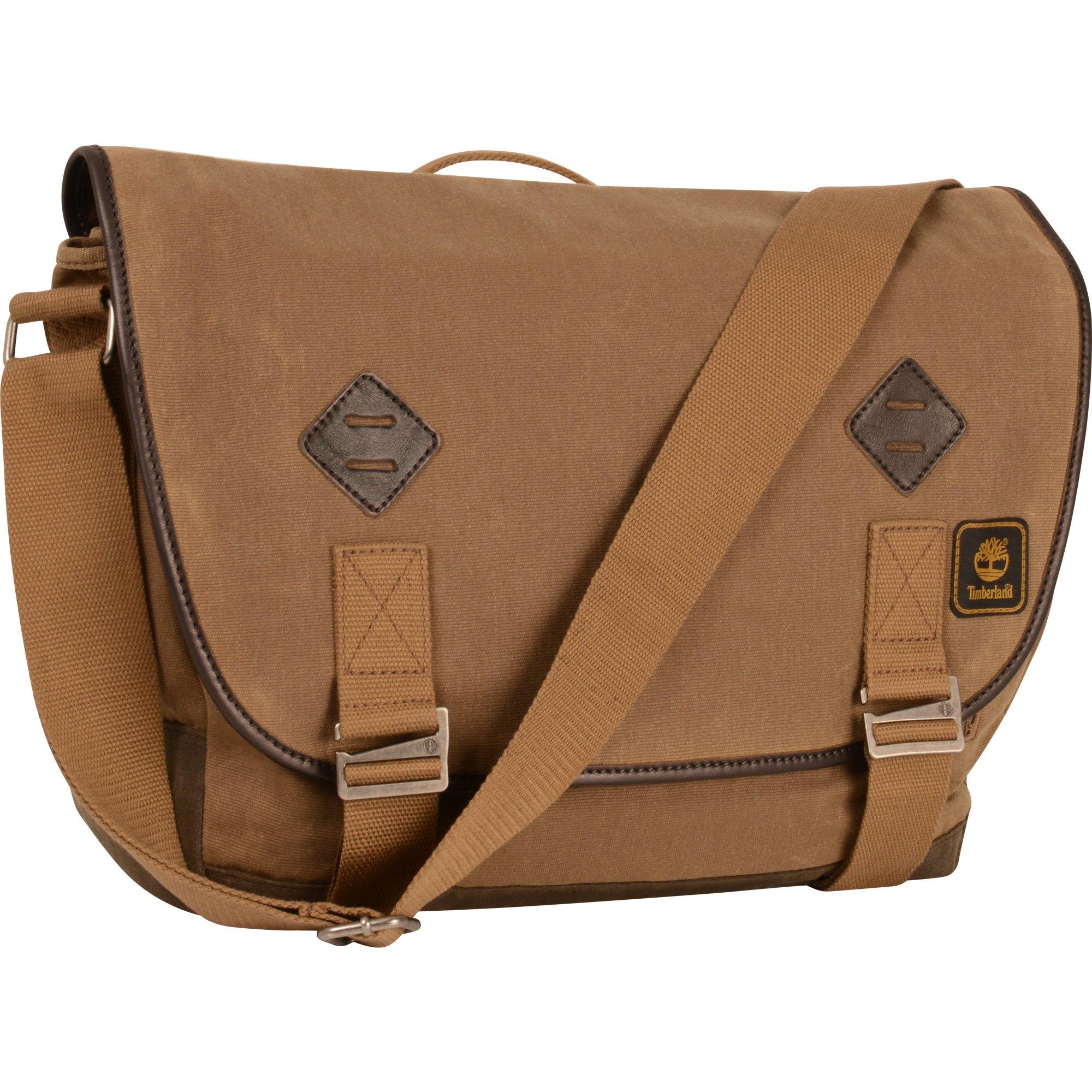 Timberland Messenger Backpack Briefcase Travel Bag, Tan