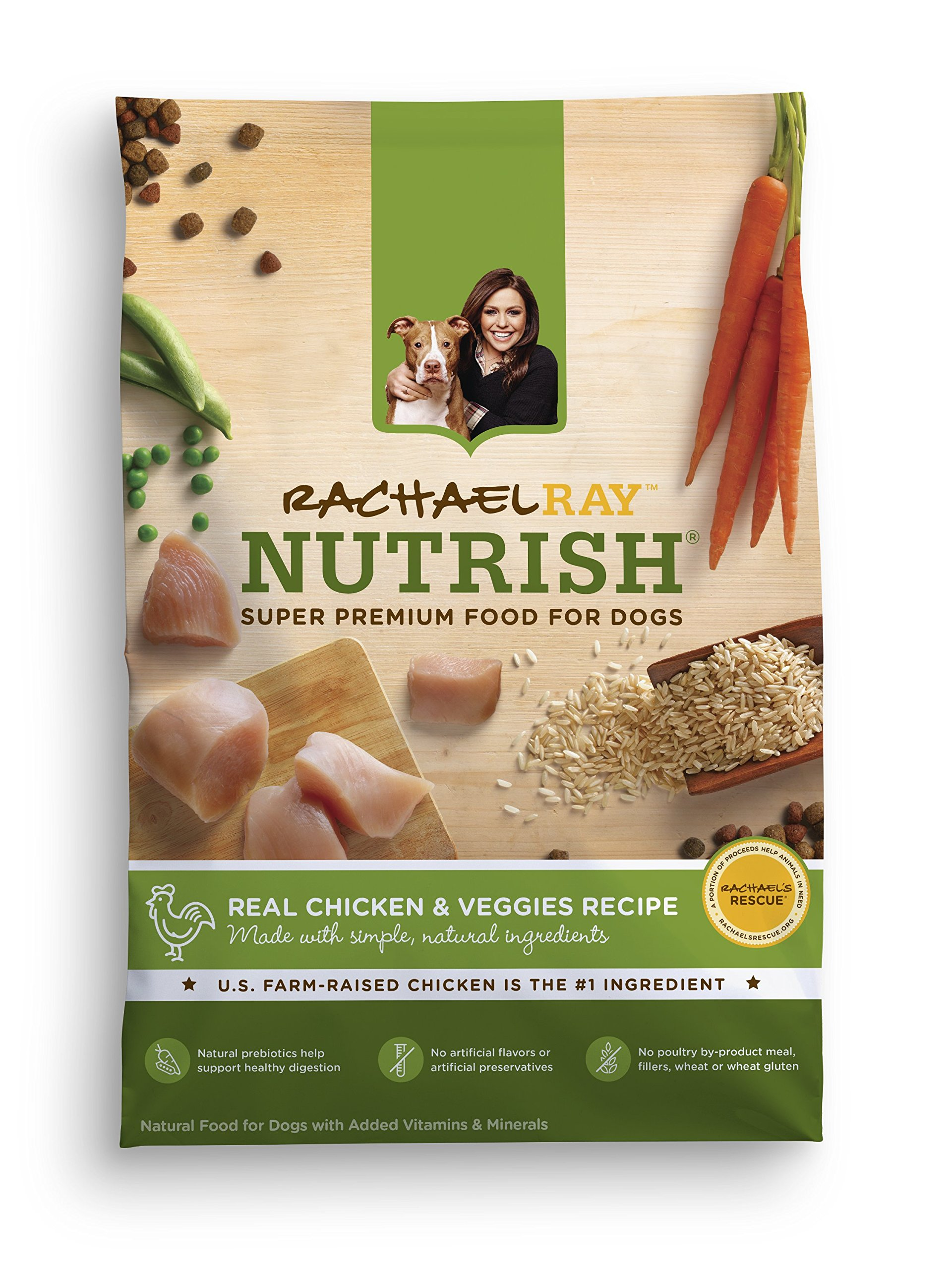 Rachael Ray Nutrish Natural Dry Dog Food Real Chicken & Veggies 40 lb