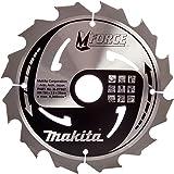 Makita b-07967190x 30mm Force Coupe sûr Lame de scie circulaire pour bois avec 12dents–Rouge/Argent