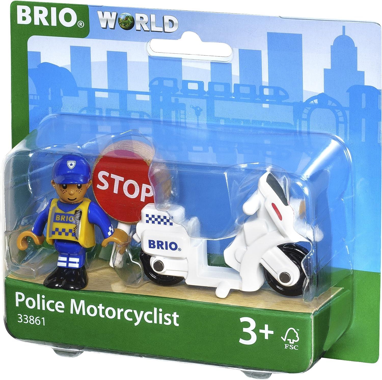 BRIO World - Motocicleta de policía
