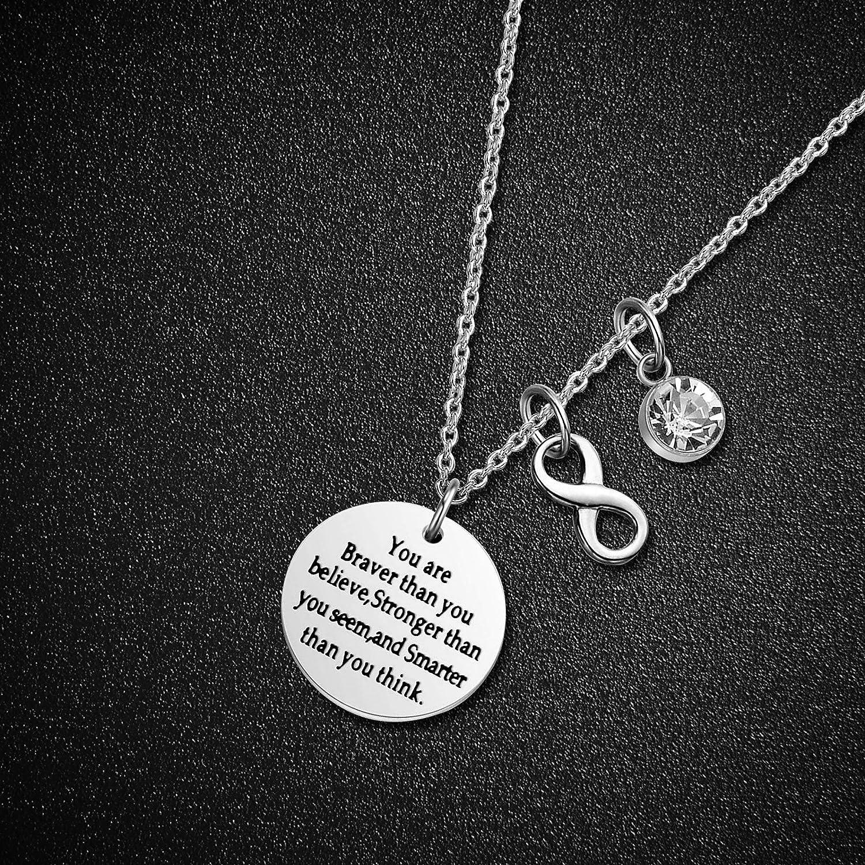 LIUANAN Stainless Steel Adjustable Birthstone Bracelets Charm Bangle Inspirational Jewelry Gifts for Women Girls