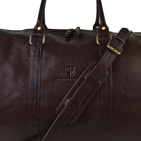 Mesdames pour homme Grand Sac Fourre-tout en cuir par Underwood & Tanner de voyage Nuit RBYKUf