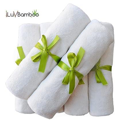 "Bebé washcloths-natural color 6 unidades toallitas para bebé. Extra grande 10.6 """