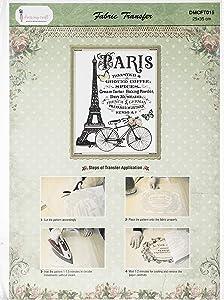 Dress My Craft Fabric Transfer Sheet 24X34cm-An Evening in Paris