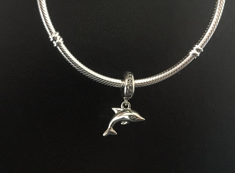 de1eba4a9950 Charm Delfín de plata primera ley para la gama de pulseras tipo Pandora y  Chamilia.  Amazon.es  Joyería