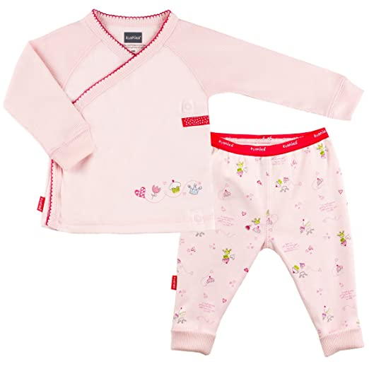 57c0622c6 Amazon.com: Kushies Baby-Girls Newborn 2 Piece Set Bedtime Stories, Pink, 9  Months: Clothing