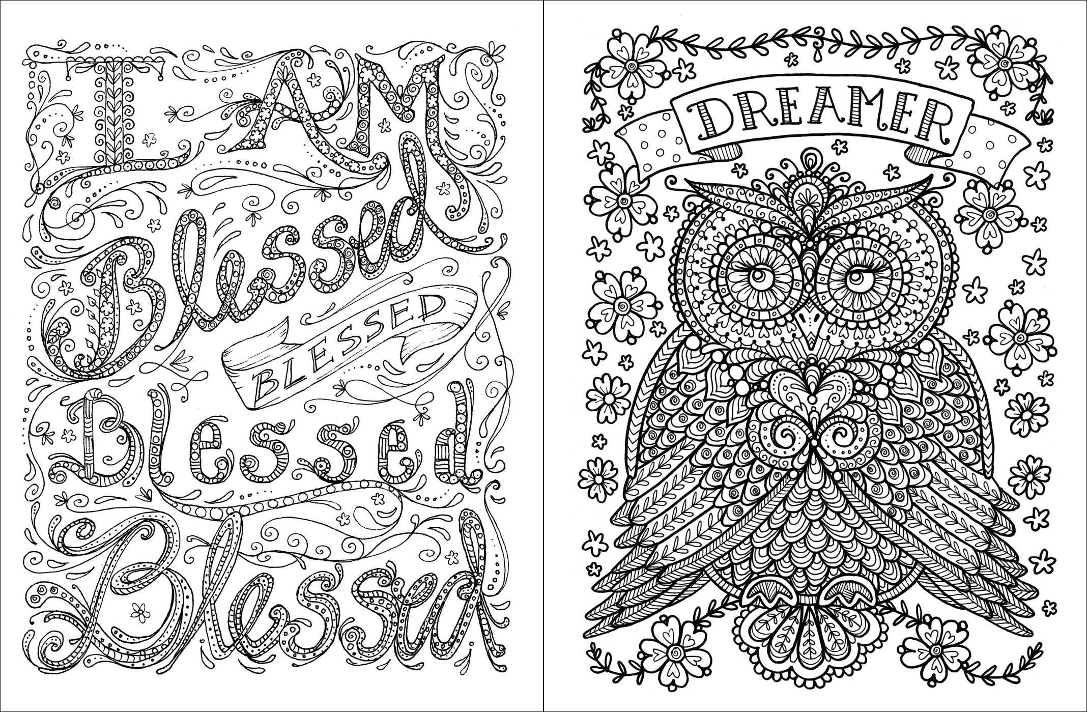 Free coloring pages for adults with quotes - Amazon Com Posh Adult Coloring Book Inspirational Quotes For Fun Relaxation Deborah Muller Posh Coloring Books 9781449474188 Deborah Muller Books