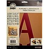 """FolkArt Stencil Paper, Alphabet & Monogram Paper Stencils 8"""", 30pc"""