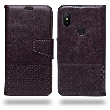 10f326c9c814a Ceego Flip Cover for Xiaomi Redmi Note 6 Pro - Luxuria Compact Flip Case  for Redmi Note 6 Pro (Chestnut Brown)
