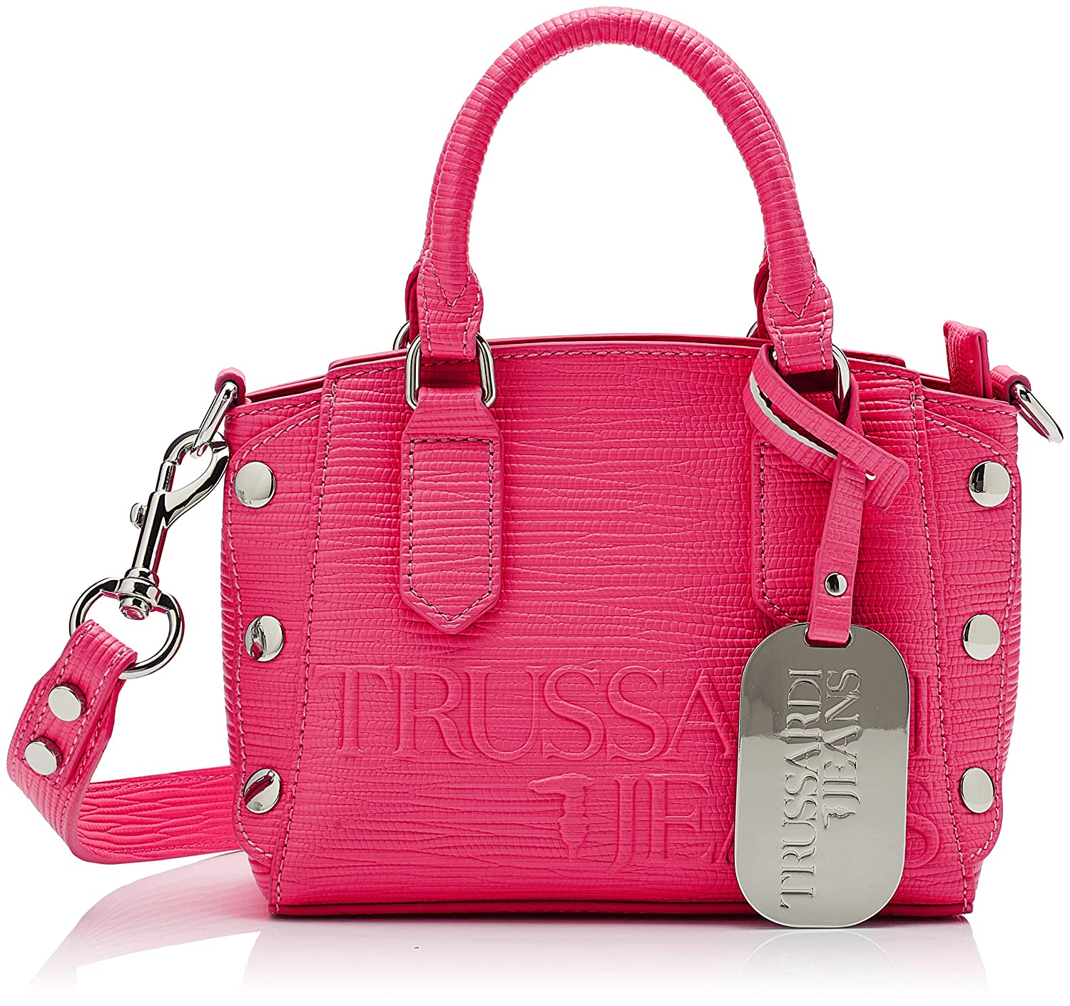 Multicolour (Fuchsia Beige Red) Trussardi Jeans Women's Melly Tote Xs Tote Bag