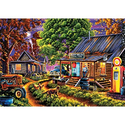 Buffalo Games - Geno Peoples - The General Store - 300 Large Piece Jigsaw Puzzle: Toys & Games