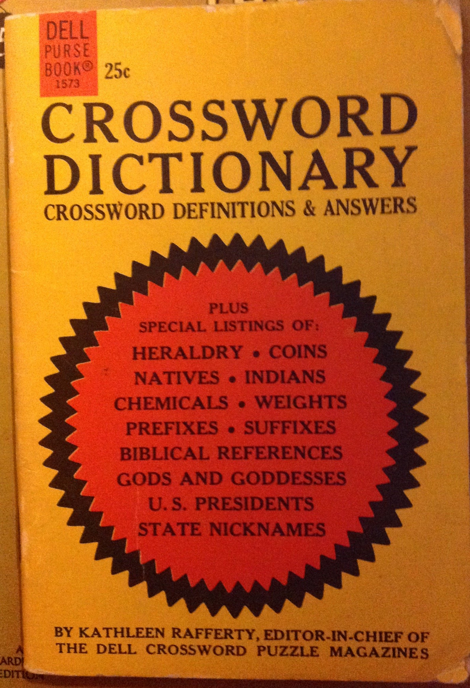 Crossword Dictionary Crossword Definitions & Answers Kathleen ...