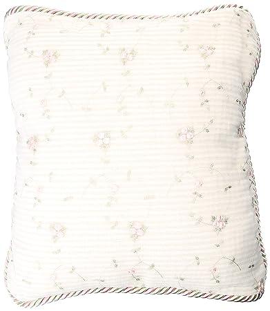 Glenna Jean Isabella Pillow, Rosebud Embroidery