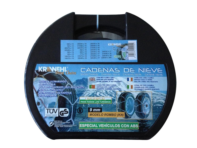 Gr Krawehl 3402.0011055 Cadenas para Nieve Rombo 5 9 mm