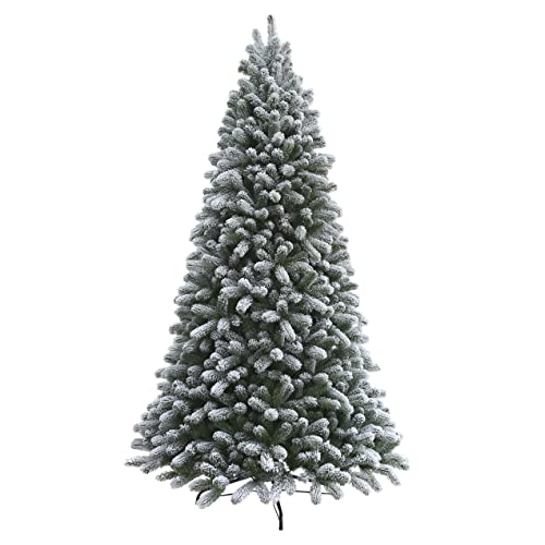 king of christmas 6 foot king flock christmas tree unlit - Artificial Christmas Trees Amazon