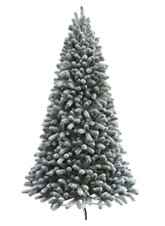king of christmas 75 foot pre lit king flock christmas tree with 800 ul warm