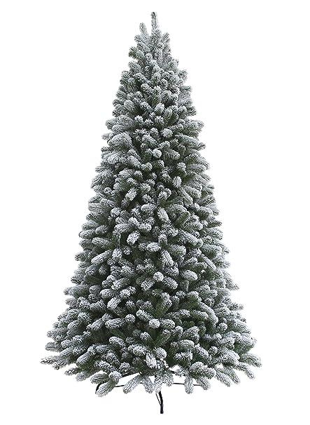 king of christmas 75 foot pre lit king flock christmas tree with 800 ul warm