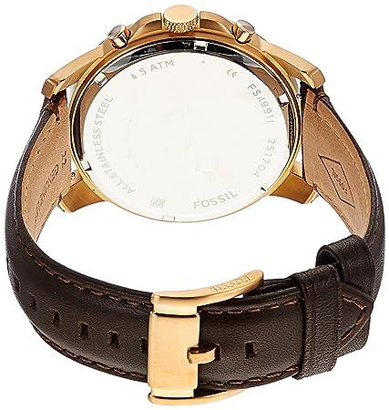 bba5a1b18aa4 Fossil FS4991 Grant Chronograph - Reloj Análogo Redondo con Movimiento de  Cuarzo para Hombre