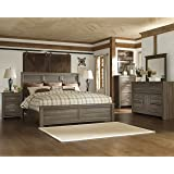 Amazon.com - Ashley Porter King Panel Bed in Vintage Casual Rustic ...