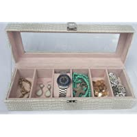 Watch Display Storage Case Box Organizer with Six Sections