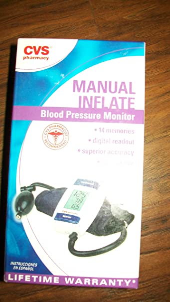 Amazon.com : CVS MANUAL Inflate Blood Pressure Monitor BPA50-CVS : Body Lotions : Beauty