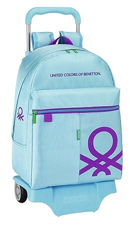 Benetton - Mochila con ruedas, 43 cm, color azul (Safta 611451160): Amazon.es: Equipaje