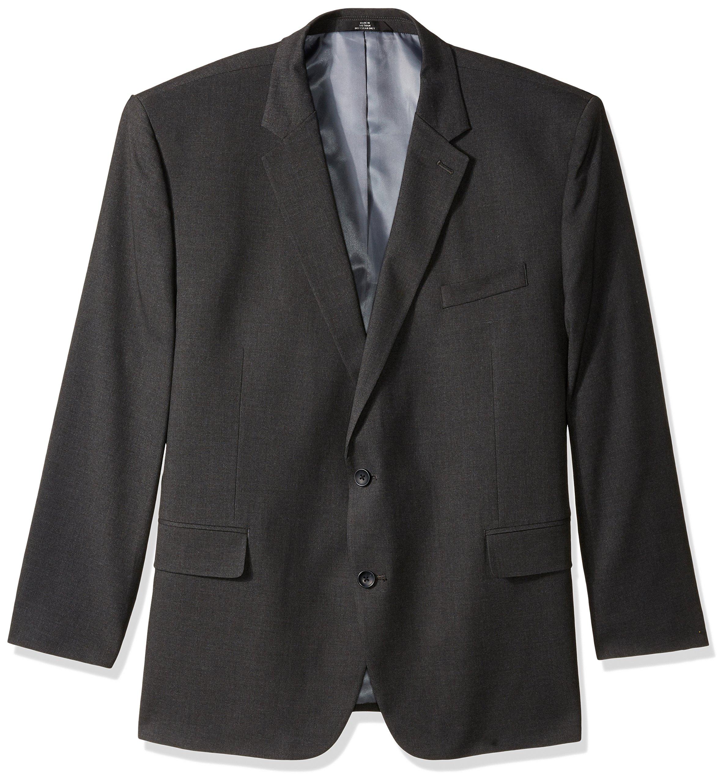 Haggar Men's Big and Tall B&t J.m Premium Stretch Classic Fit 2-Button Coat, Dark Heather Grey, 60R